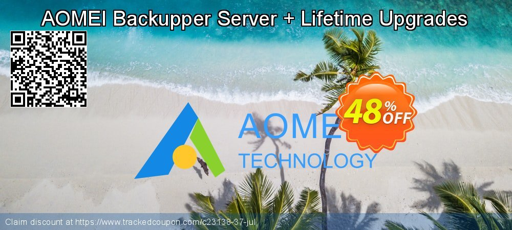 AOMEI Backupper Server + Lifetime Upgrades coupon on Easter Sunday offer