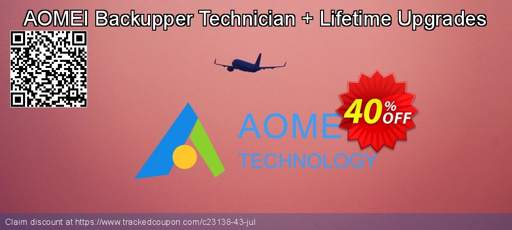 AOMEI Backupper Technician + Lifetime Upgrades coupon on Spring promotions