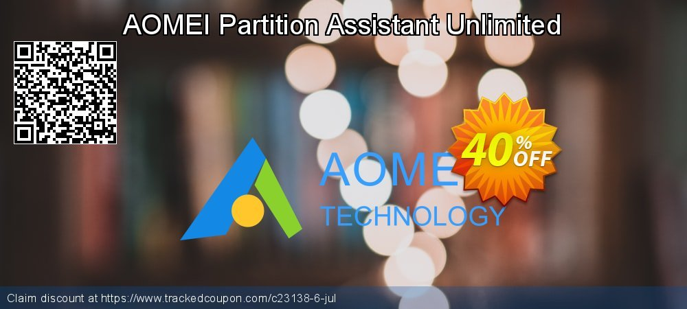 Get 30% OFF AOMEI Partition Assistant Unlimited offering sales