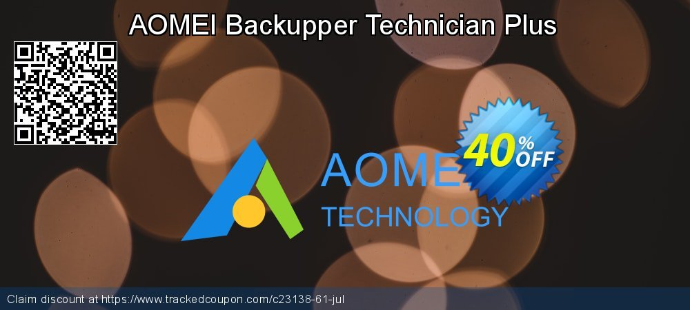 AOMEI Backupper Technician Plus coupon on Halloween offering sales