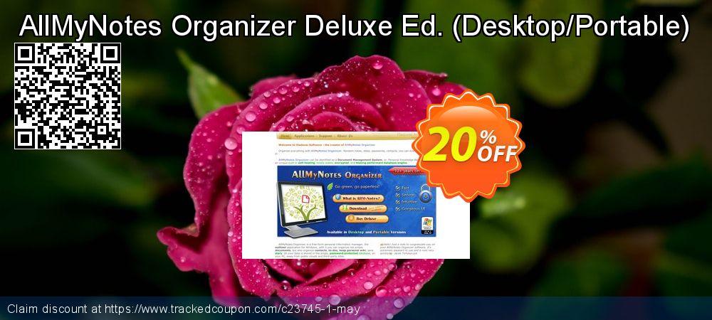 Get 20% OFF AllMyNotes Organizer Deluxe Ed. (Desktop/Portable) offering sales