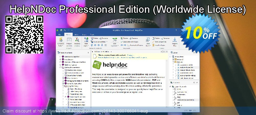 HelpNDoc Professional Edition - Worldwide License  coupon on Back to School shopping offering discount