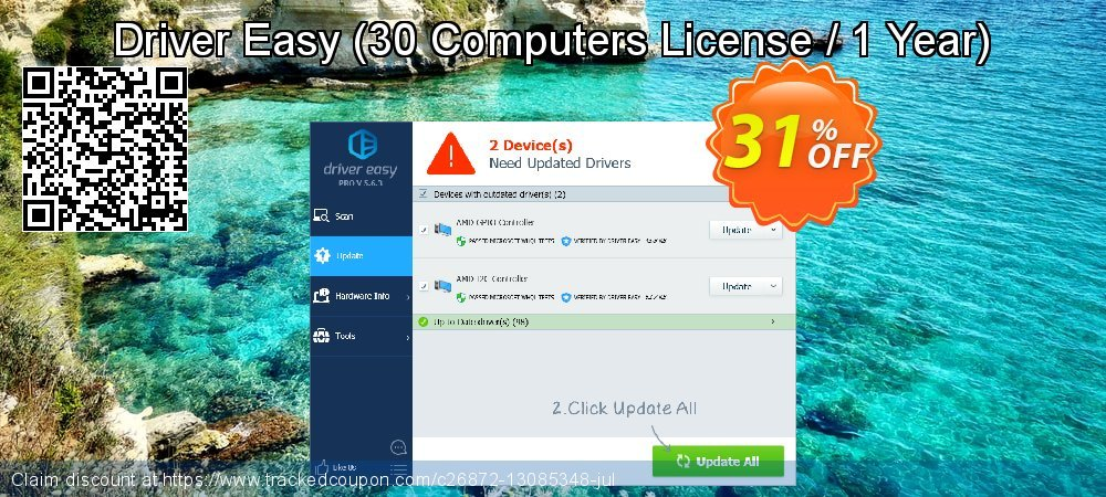 Driver Easy - 30 Computers License / 1 Year  coupon on April Fool's Day offering sales
