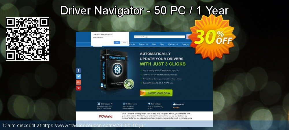Get 82% OFF Driver Navigator - 50 PC / 1 Year offering sales