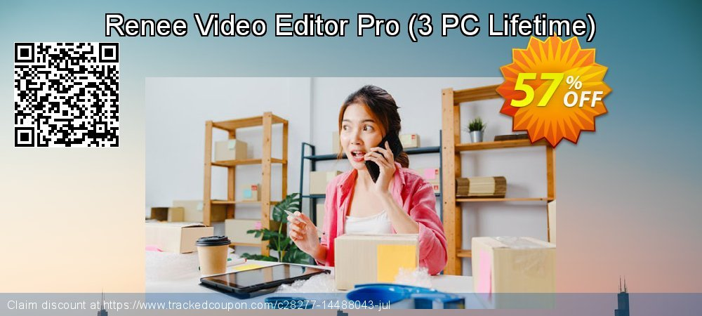 Renee Video Editor Pro - 3 PC Lifetime  coupon on Back to School promotion offer