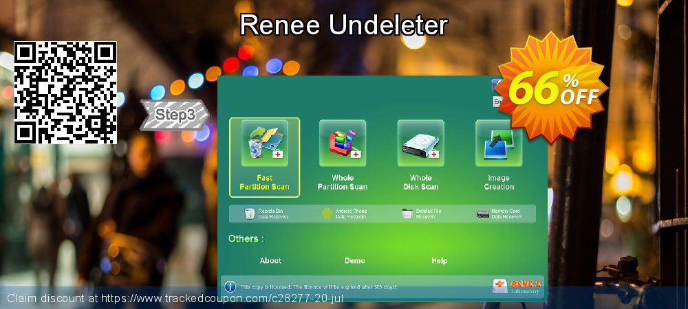 Claim 66% OFF Renee Undeleter Coupon discount November, 2019