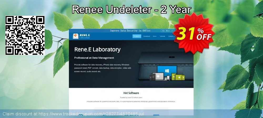 Renee Undeleter - 2 Year coupon on Easter Sunday discounts