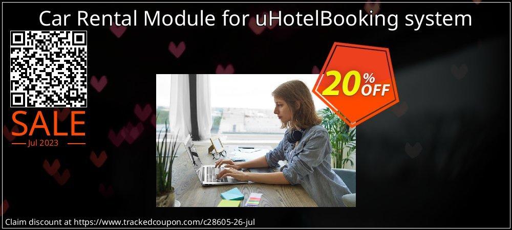 Get 20% OFF Car Rental Module for uHotelBooking system offering deals