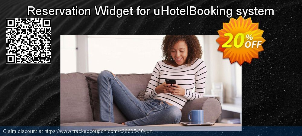 Get 20% OFF Reservation Widget for uHotelBooking system offering deals