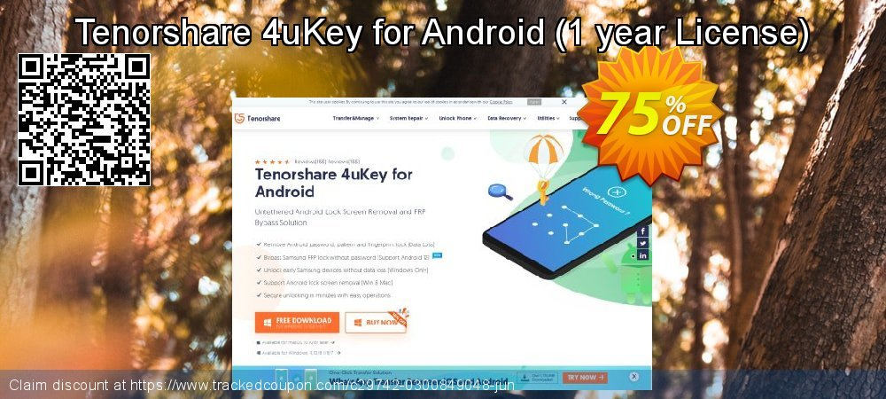 Tenorshare 4uKey for Android - 1 year License  coupon on All Hallows' evening offering sales