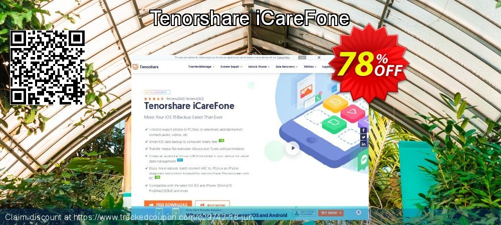 Tenorshare iCareFone coupon on Back to School offer deals