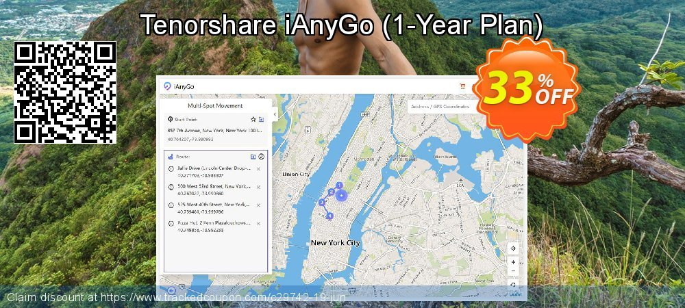 Tenorshare iAnyGo - 1-Year Plan  coupon on Chinese National Day super sale