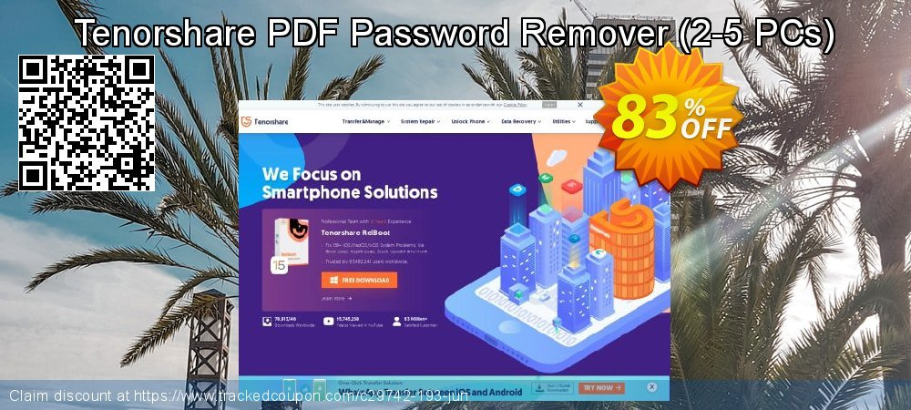 Tenorshare PDF Password Remover - 2-5 PCs  coupon on Back to School shopping promotions