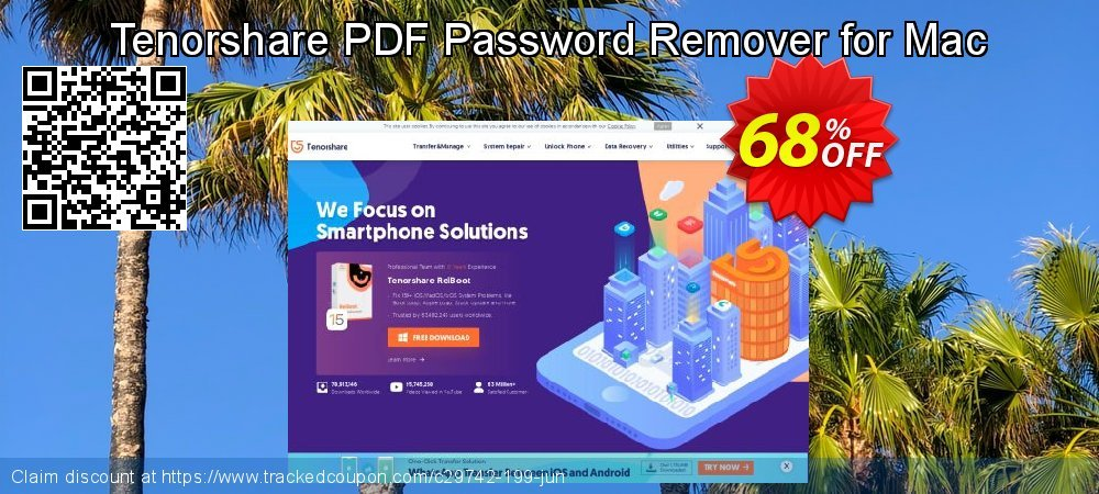 Tenorshare PDF Password Remover for Mac coupon on All Hallows' evening super sale