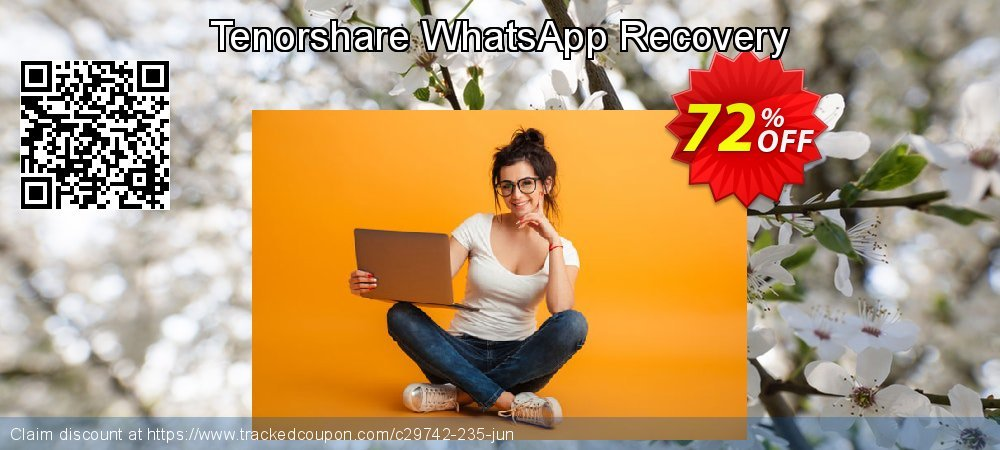 Claim 72% OFF Tenorshare WhatsApp Recovery Coupon discount August, 2020