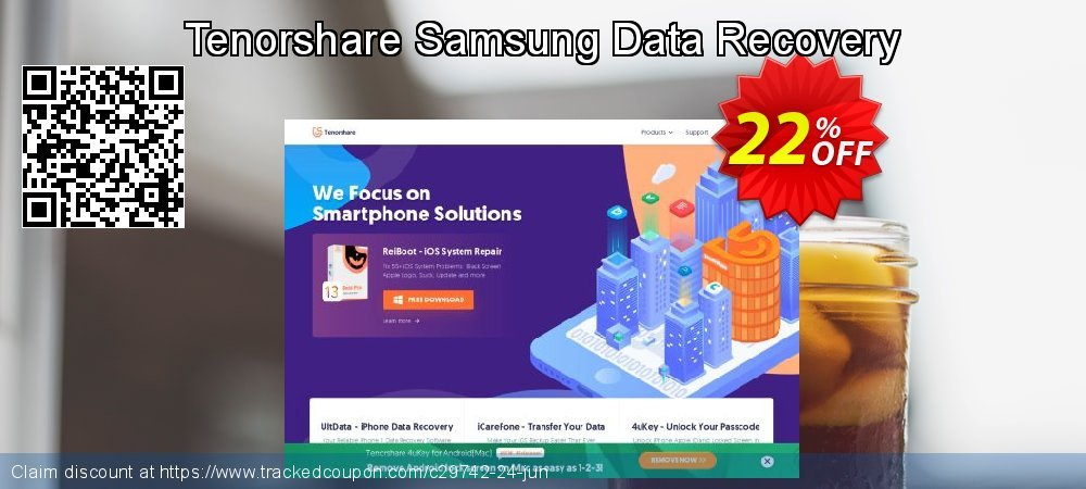 Claim 22% OFF Tenorshare Samsung Data Recovery Coupon discount June, 2020