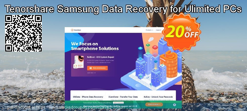 Claim 20% OFF Tenorshare Samsung Data Recovery for Ulimited PCs Coupon discount June, 2020