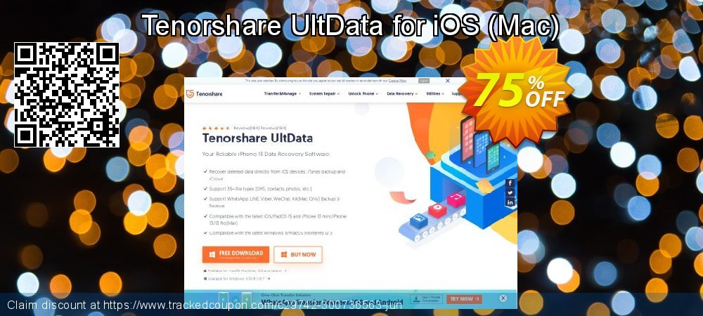 Tenorshare UltData for iOS - Mac  coupon on National Savings Day offer