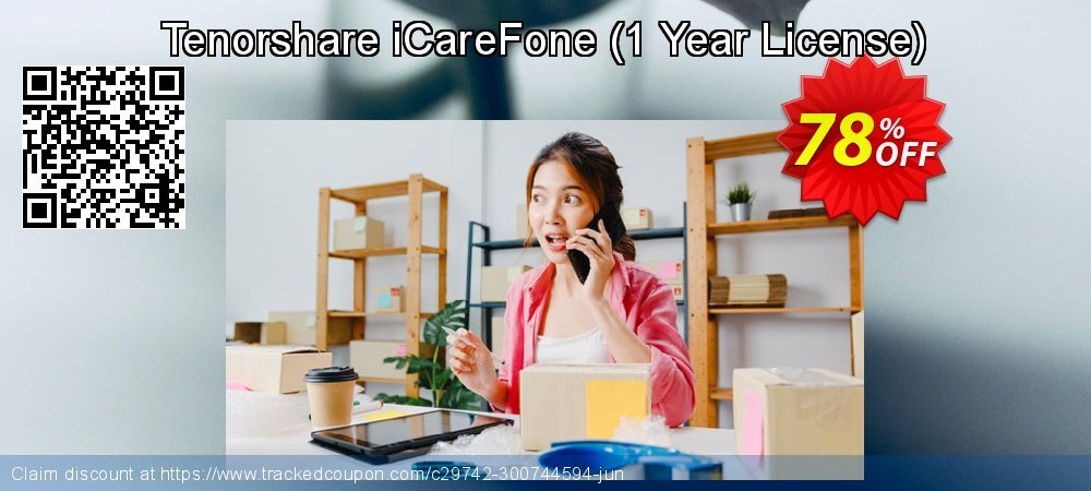 Tenorshare iCareFone - 1 Year License  coupon on National Noodle Day offering sales