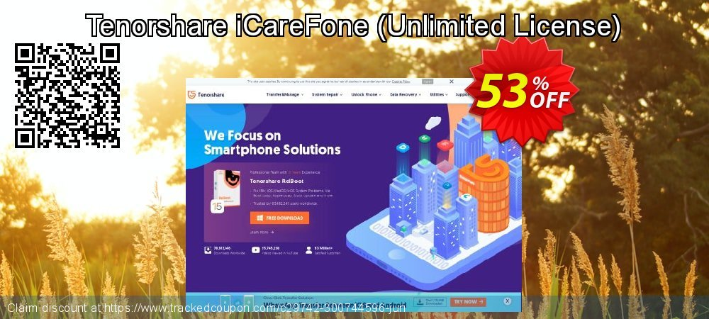 Tenorshare iCareFone - Unlimited License  coupon on University Student deals super sale