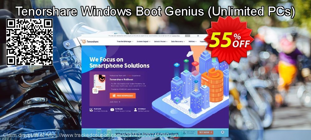 Tenorshare Windows Boot Genius - Unlimited PCs  coupon on Back to School deals discount
