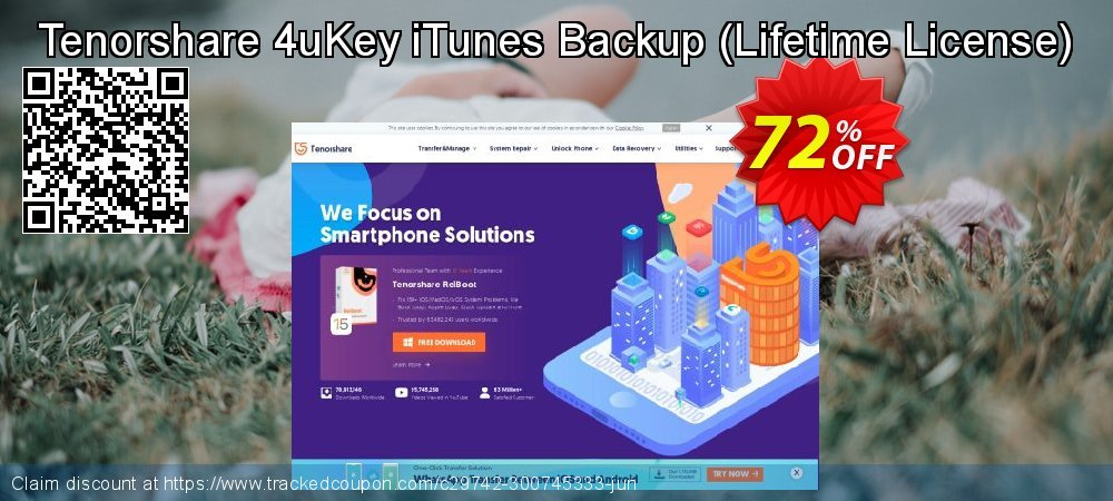 Tenorshare 4uKey iTunes Backup - Lifetime License  coupon on Coffee Day super sale