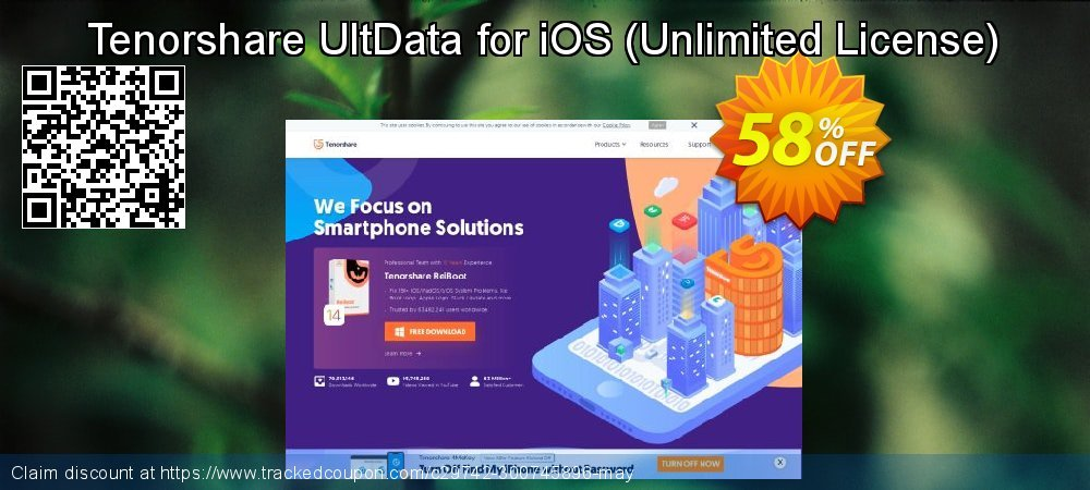 Claim 58% OFF Tenorshare UltData for iOS - Unlimited License Coupon discount June, 2020