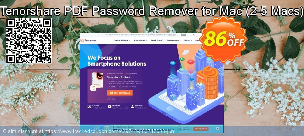 Tenorshare PDF Password Remover for Mac - 2-5 Macs  coupon on Chinese National Day promotions