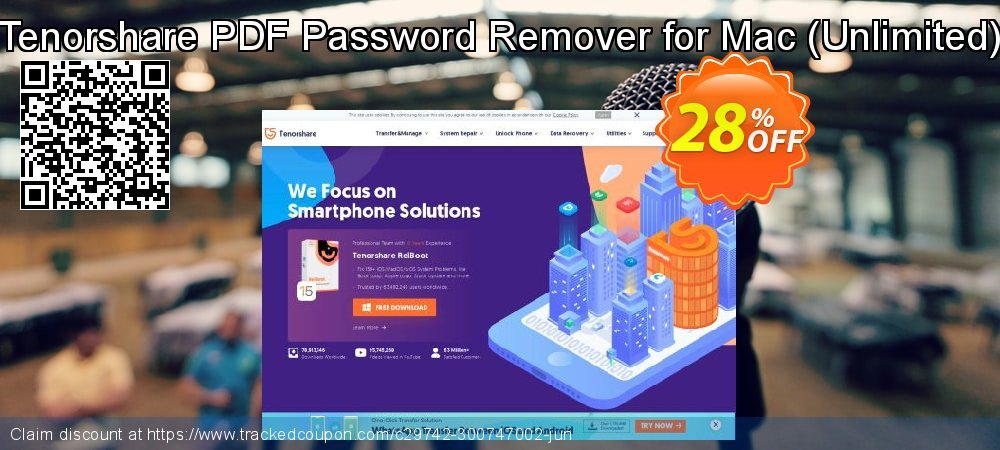 Tenorshare PDF Password Remover for Mac - Unlimited  coupon on National Savings Day deals
