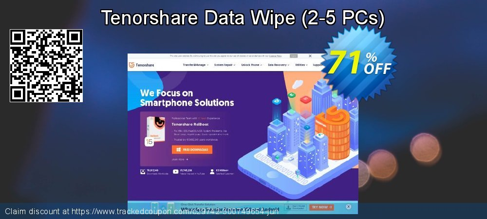 Tenorshare Data Wipe - 2-5 PCs  coupon on Back to School offer super sale