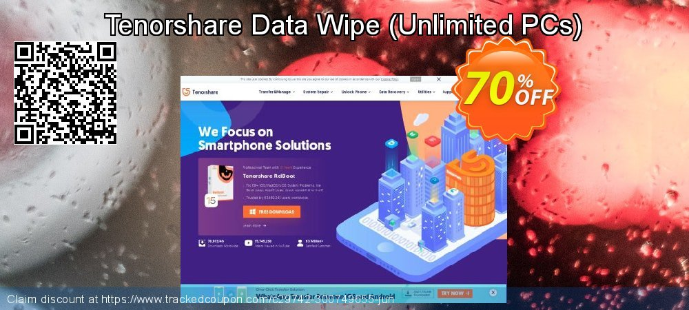 Tenorshare Data Wipe - Unlimited PCs  coupon on Back to School coupons discounts