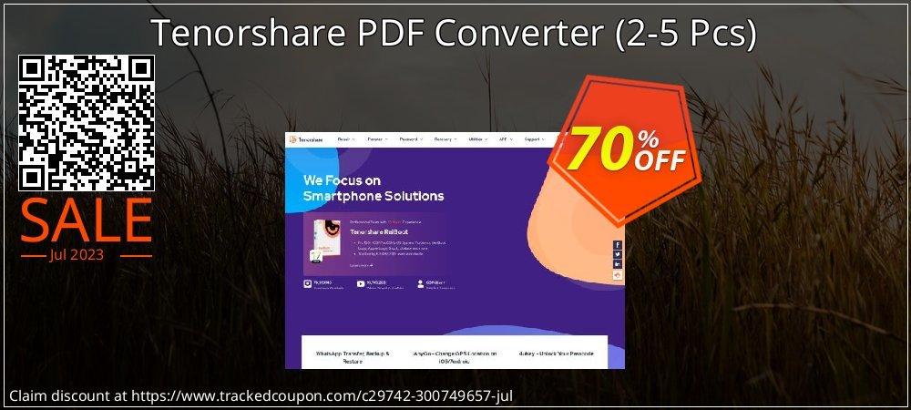 Tenorshare PDF Converter - 2-5 Pcs  coupon on National Pumpkin Day deals
