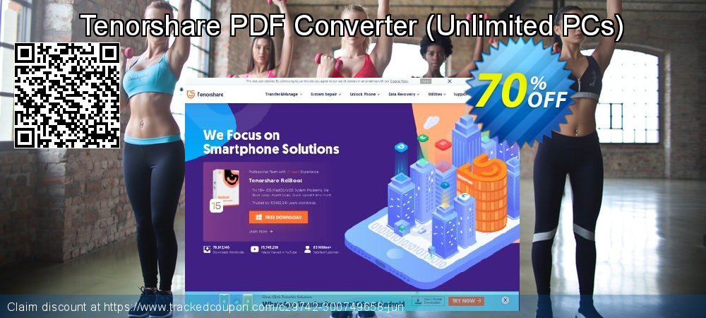 Tenorshare PDF Converter - Unlimited PCs  coupon on All Saints' Eve offer