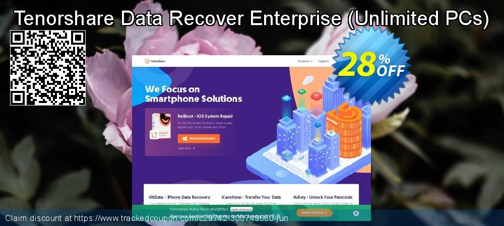 Tenorshare Data Recover Enterprise - Unlimited PCs  coupon on Father's Day sales