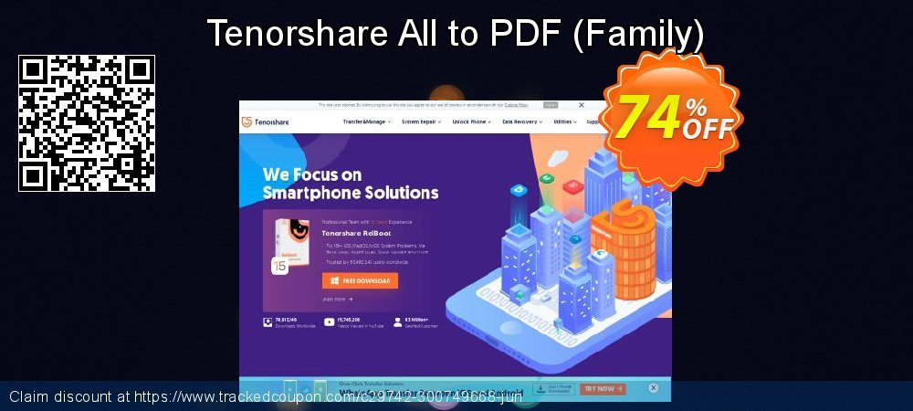 Tenorshare All to PDF - Family  coupon on National Pumpkin Day discount