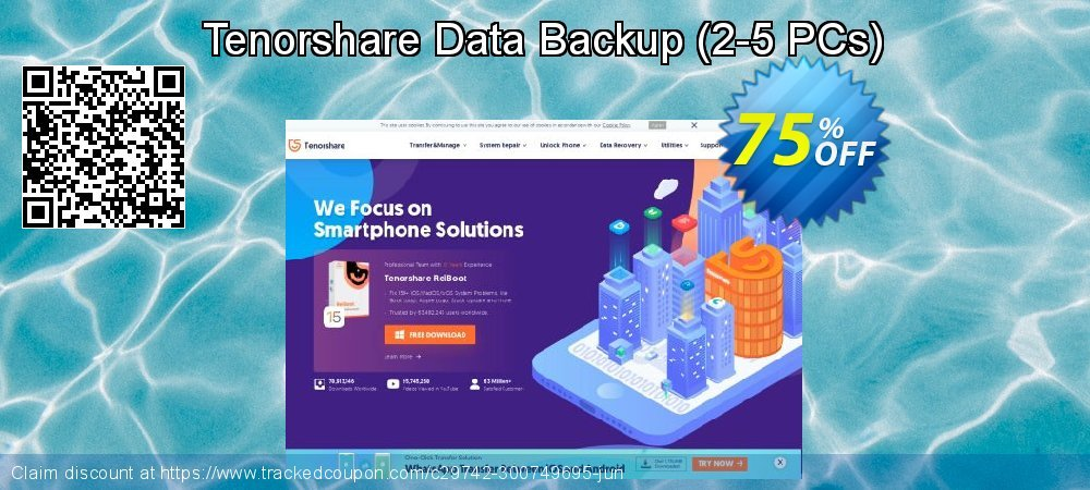 Get 20% OFF Tenorshare Data Backup-Family Pack offering sales
