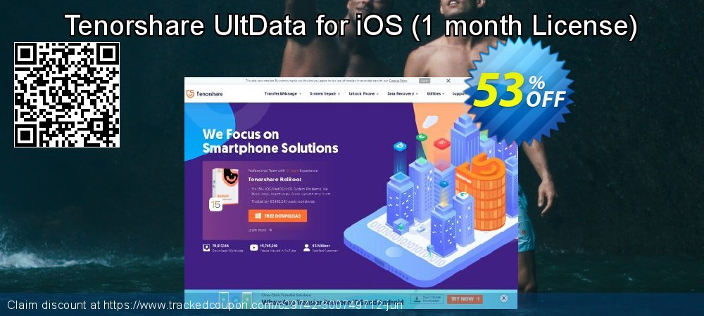 Claim 53% OFF Tenorshare UltData for iOS - 1 month License Coupon discount June, 2020