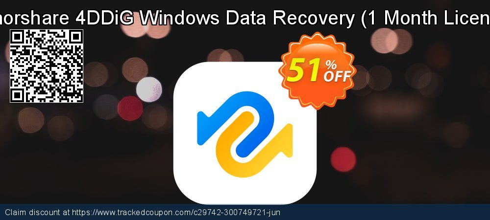 Tenorshare 4DDiG Windows Data Recovery - 1 Month License  coupon on Navy Day offer