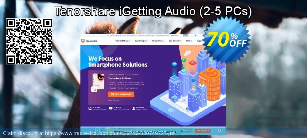 Tenorshare iGetting Audio - 2-5 PCs  coupon on Halloween promotions