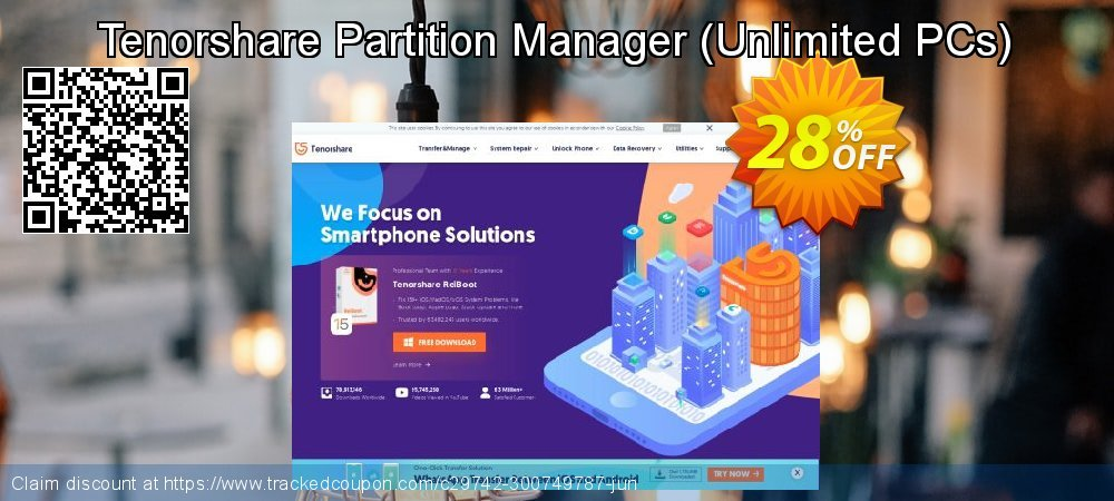 Tenorshare Partition Manager - Unlimited PCs  coupon on Navy Day offering sales