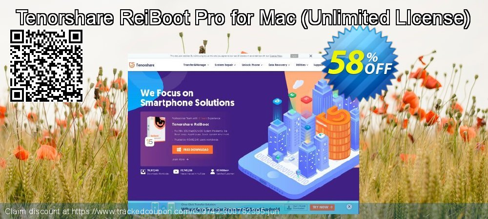 Claim 58% OFF Tenorshare ReiBoot Pro for Mac - Unlimited LIcense Coupon discount October, 2020