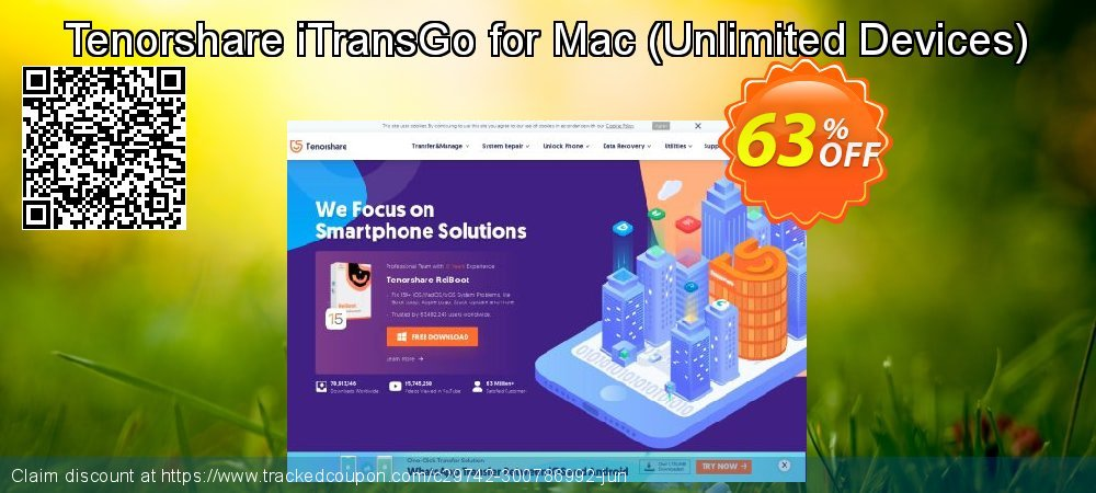 Get 20% OFF Tenorshare Phone to Phone Transfer for Mac - 1 Year/Unlimited Devices promo