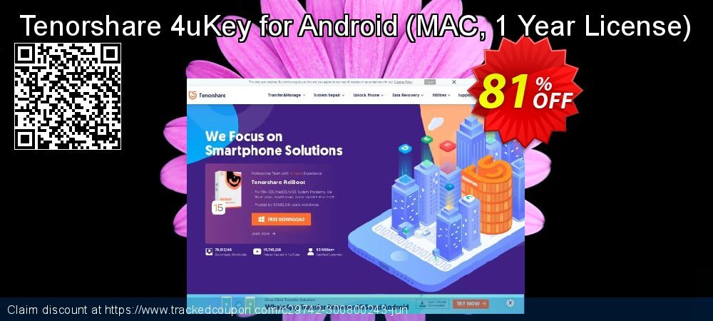 Tenorshare 4uKey for Android - MAC, 1 Year License  coupon on National Noodle Day discounts