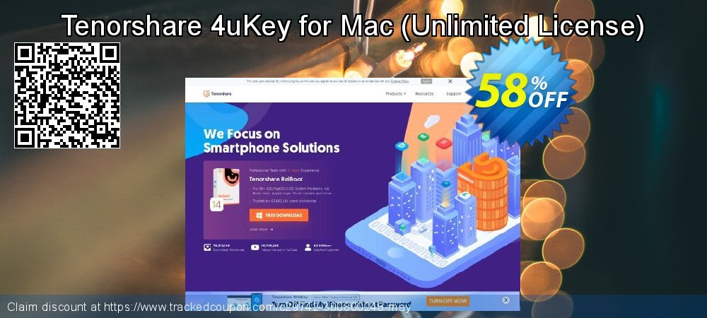 Tenorshare 4uKey for Mac - Unlimited License  coupon on Back to School season offer