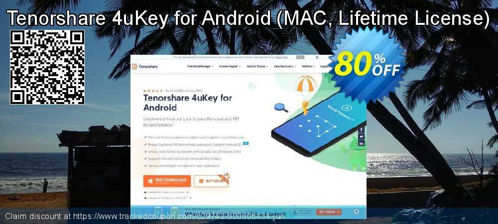 Tenorshare 4uKey for Android - Unlimited License  coupon on Back to School offer offering sales