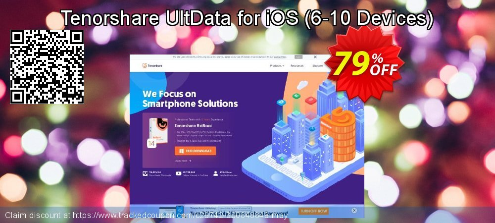 Claim 79% OFF Tenorshare UltData for iOS - 6-10 Devices Coupon discount October, 2020