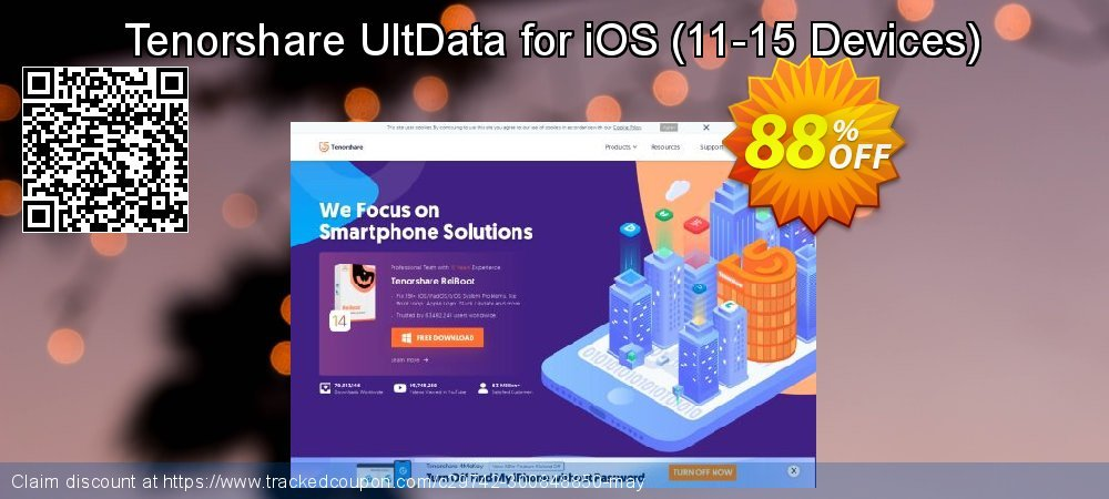 Claim 88% OFF Tenorshare UltData for iOS - 11-15 Devices Coupon discount October, 2020