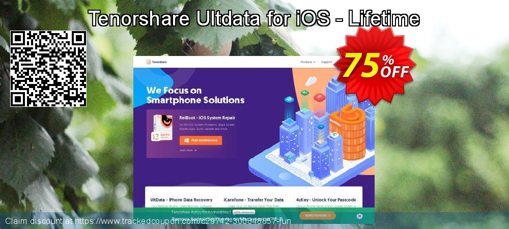 Claim 75% OFF Tenorshare Ultdata for iOS - Lifetime Coupon discount May, 2020