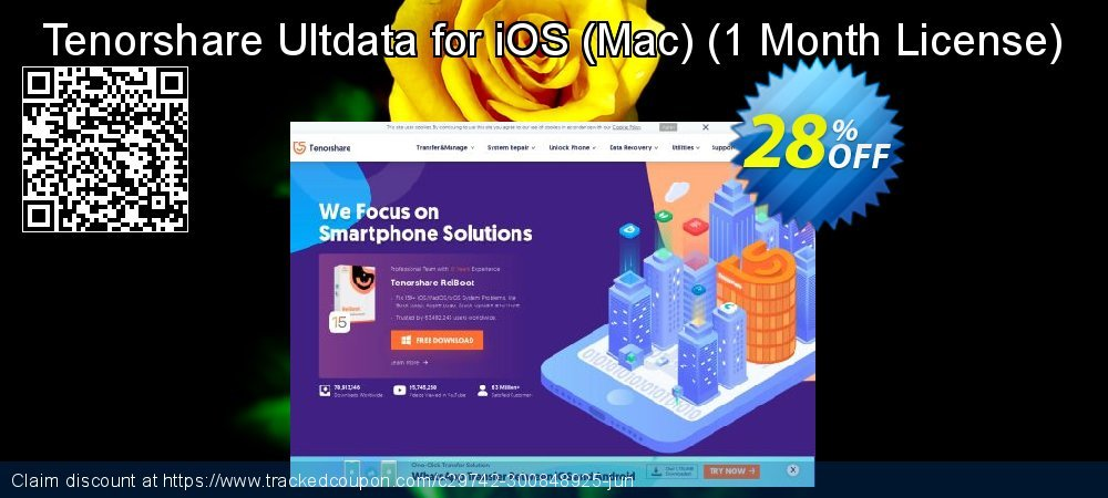 Tenorshare Ultdata for iOS - Mac - 1 Month License  coupon on Halloween promotions