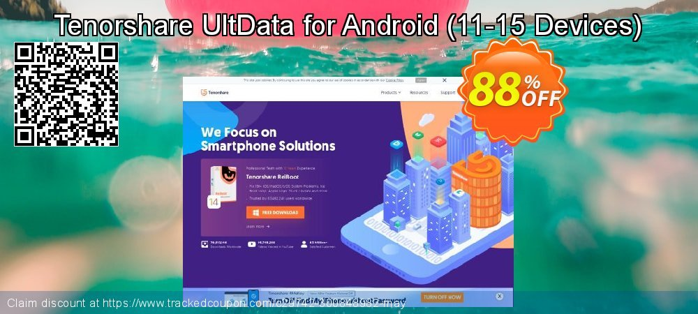 Get 80% OFF Tenorshare UltData for Android - (11-15 Devices) promotions